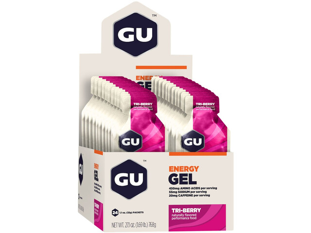 GU Energy Gel Box 24x32g, Tri Berry (2019) | Energy gels